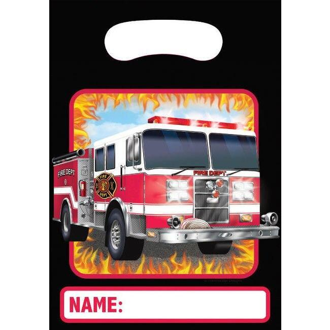 Fire Watch Favor Loot Bags (8) - Party Zone USA