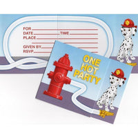 Firefighter Party Invitations (8) - Party Zone USA
