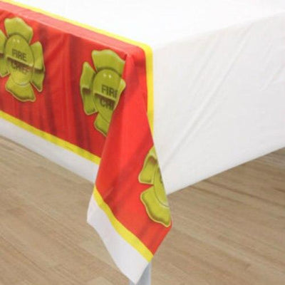 Firefighter Party Table Cover (1) - Party Zone USA
