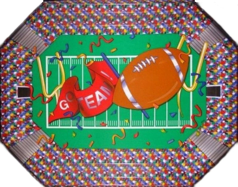 Football GO TEAM Party Tray - Party Zone USA