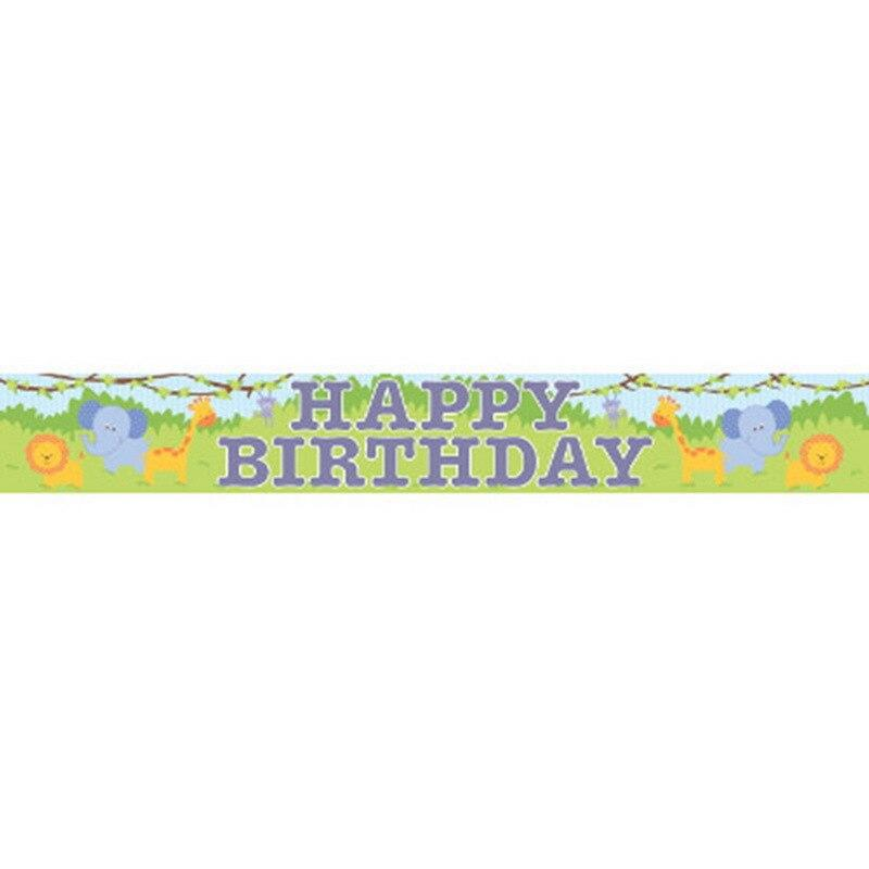 Forest Friends Happy Birthday Banner - Party Zone USA