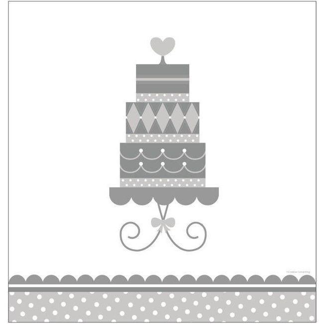 Forever Sweet Wedding Themed Table Cover - Party Zone USA