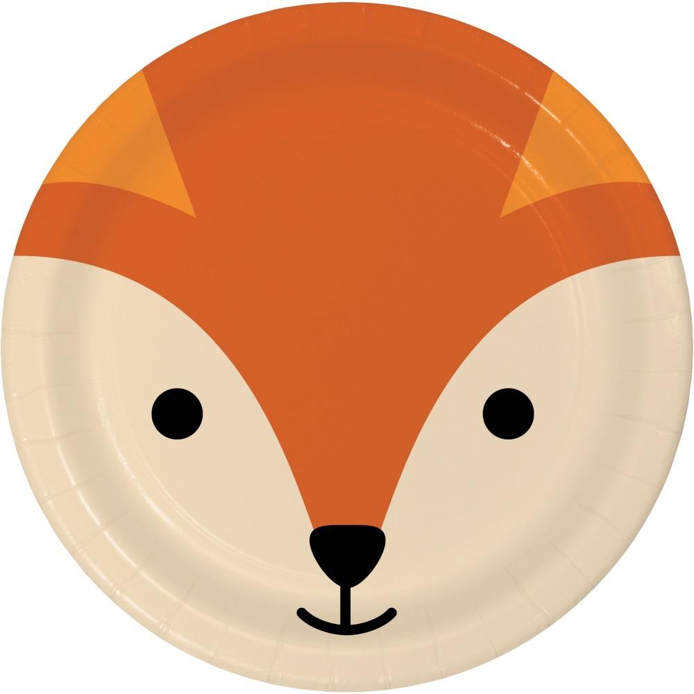 Fox Animal Faces Dessert Plates (8) - Party Zone USA