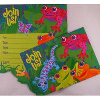 Frog and Friends Party Invitations (8) - Party Zone USA