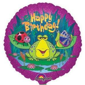 Frog Swamp Happy Birthday Balloon - Party Zone USA
