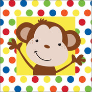Fun Monkey Beverage Napkins (16) - Party Zone USA