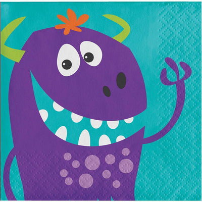 Fun Monsters Beverage Napkins (16) - Party Zone USA
