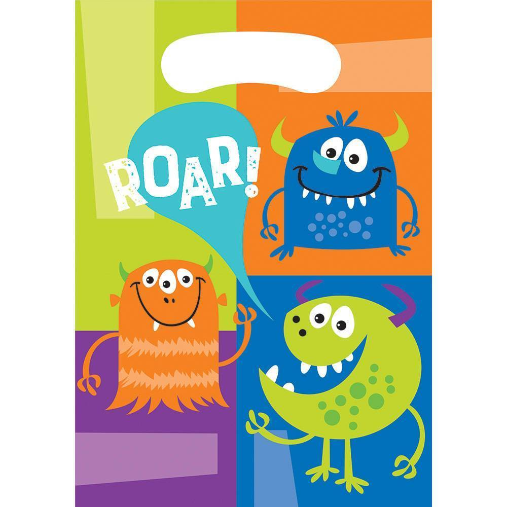 Fun Monsters Loot Bags (8) - Party Zone USA