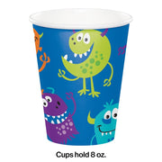 Fun Monsters Party Cups (8) - Party Zone USA