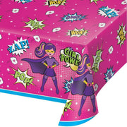 Girl Superhero Table Cover - Party Zone USA