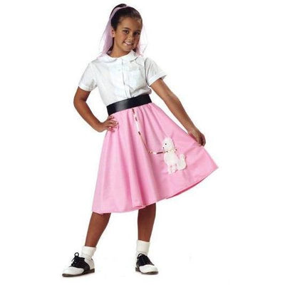 Girl's Pink Poodle Skirt - Party Zone USA