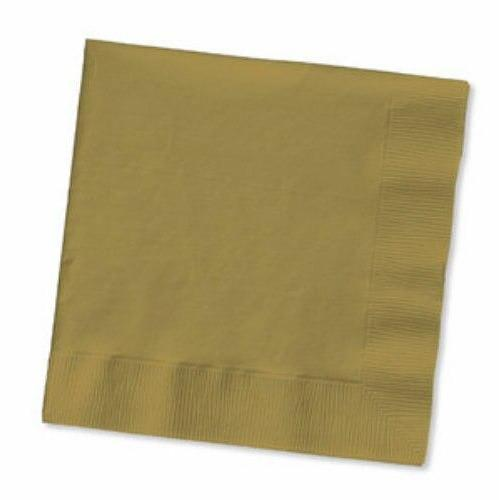 Gold Beverage Napkins (50) - Party Zone USA