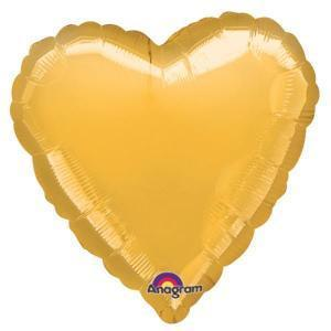 Gold Heart Shaped Balloon - Party Zone USA