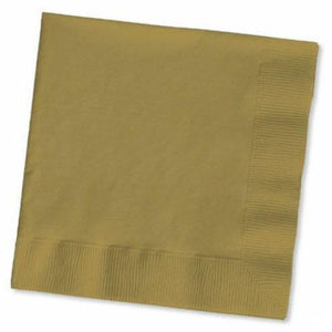 Gold Luncheon Napkins (50) - Party Zone USA