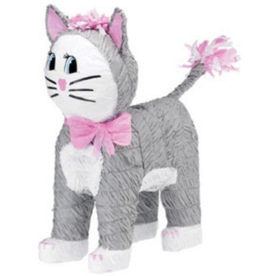 Gray Kitty Cat Pinata - Party Zone USA