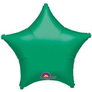 Green Star Shaped Balloon - Party Zone USA