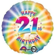 Groovy Happy 21st Birthday Balloon - Party Zone USA