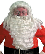 Halco Deluxe Professional Santa Extra Full Wig and Beard Set Christmas Costume - Party Zone USA