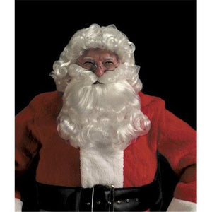 Halco Deluxe Santa Curly Wig and Beard Set Christmas Costume - Party Zone USA