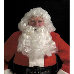 Halco Deluxe Santa White Wig and Beard Set Christmas Costume - Party Zone USA