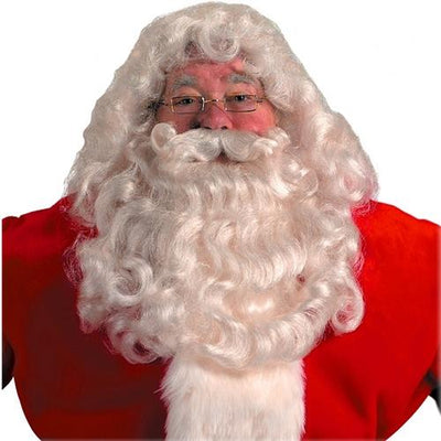 Halco Professional Santa Wig and Beard Set Christmas Costume - Party Zone USA