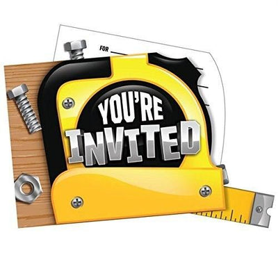 Handyman Party Invitations (8) - Party Zone USA