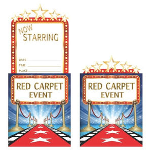 Hollywood Lights Party Invitations (8) - Party Zone USA