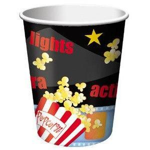 Hollywood Movie Party Cups (8) - Lights, Camera, Action! - Party Zone USA
