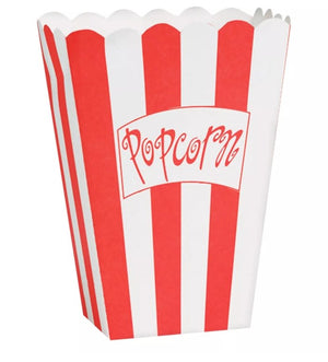 Hollywood Movie Popcorn Boxes (8) - Party Zone USA