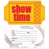 Hollywood Showtime Party Invitations (8) - Party Zone USA