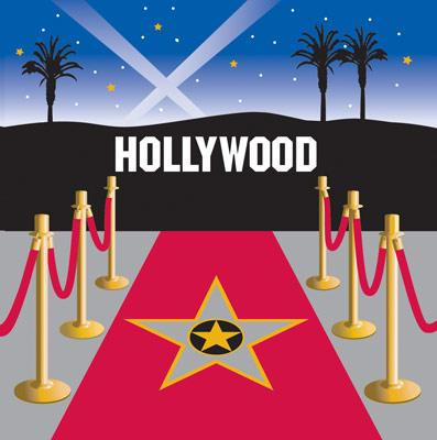 Hollywood Skyline Luncheon Napkins (16) - Party Zone USA