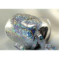 HOLOGRAPHIC SILVER Curling Ribbon Egg (75 ft.) - Party Zone USA