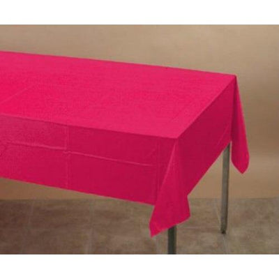 Hot Magenta Pink Table Cover - Party Zone USA