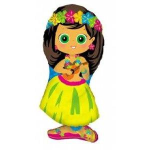 Hula Girl Mylar Balloon - Party Zone USA