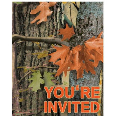Hunting Camo Party Invitations - Party Zone USA