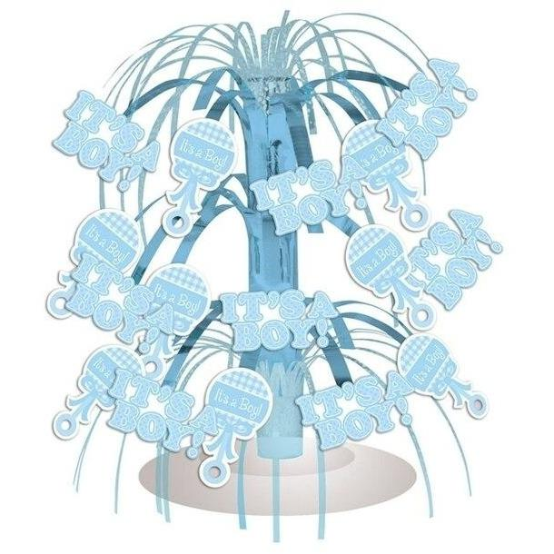 It's a Boy Gingham Cascade Centerpiece - Party Zone USA