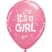 It's a Girl Baby Shower Balloons (10) - Party Zone USA