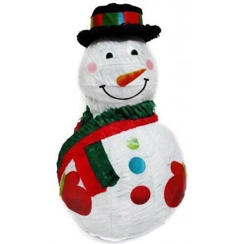 Jolly Snowman Pinata w/Black Hat - Party Zone USA