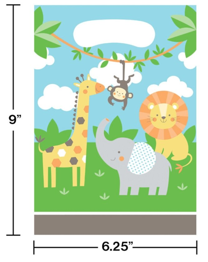 Jungle Animals Favor Bags (8) - Party Zone USA