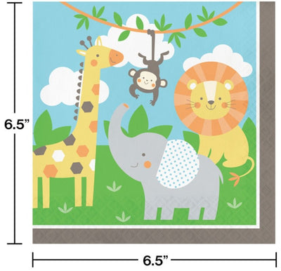 Jungle Animals Lunch Napkins (16) - Party Zone USA
