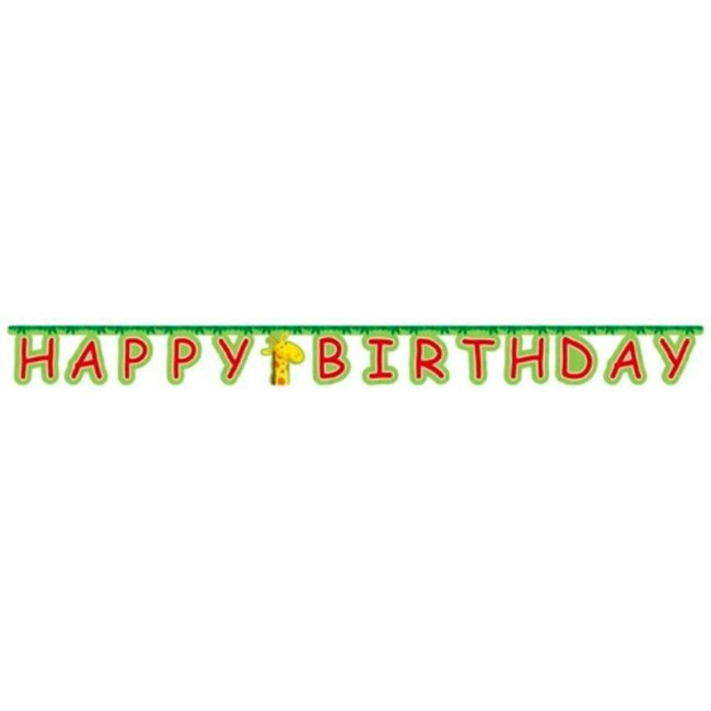 Jungle Buddies Jointed Birthday Banner - Party Zone USA