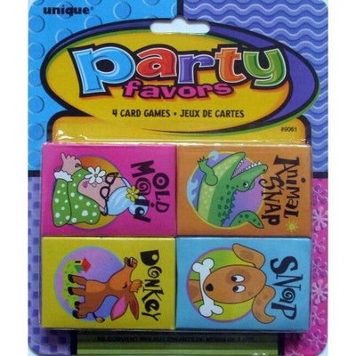 Kid's Mini Card Games (4) - Party Zone USA