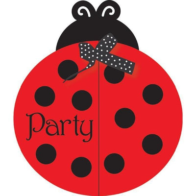 Ladybug Fancy Party Invitations (8) - Party Zone USA