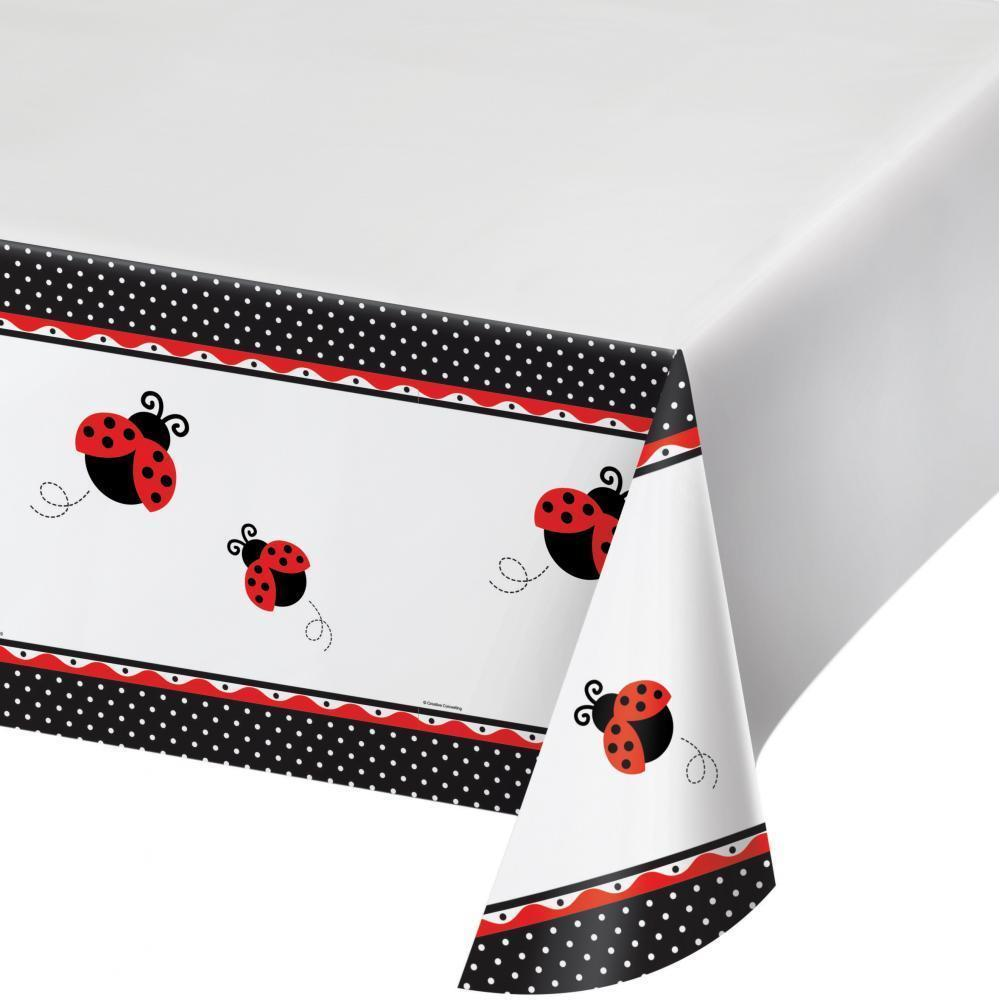 Ladybug Fancy Table Cover - Party Zone USA