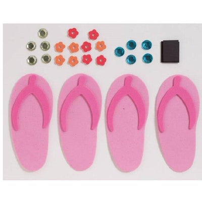 Let's Hula Foam Flip Flop Activity Kit - Party Zone USA