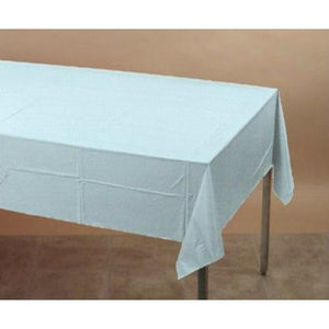 Light Blue Plastic Table Cover - Party Zone USA