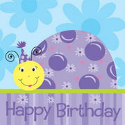 Lil' Ladybug Happy Birthday Lunch Napkins (16) - Party Zone USA