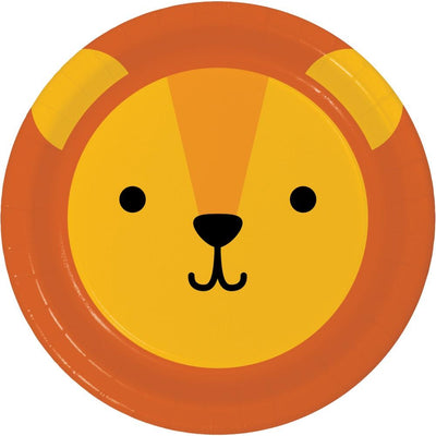 Lion Animal Faces Dessert Plates (8) - Party Zone USA
