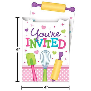 Little Chef Party Invitations (8) - Party Zone USA
