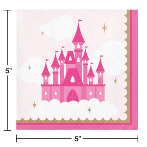 Little Princess Beverage Napkins (16) - Party Zone USA
